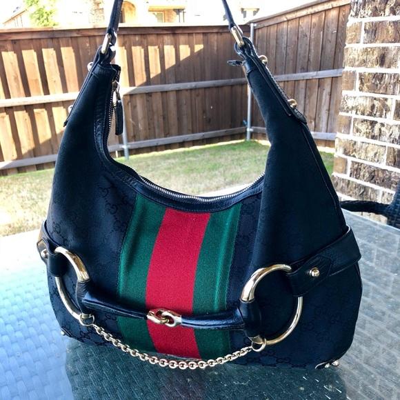 734aff15f42 Gucci Handbags - Authentic Gucci Monogram Horsebit Web Purse